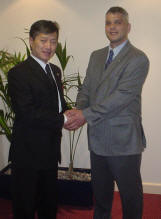 Master Nicholls VIII and GM Choi Jung Hwa IX